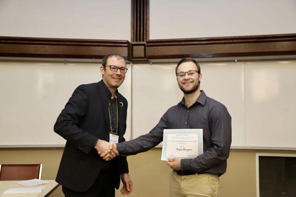 Award handshake
